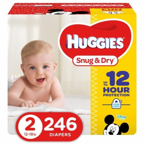 Huggies Snug & Dry Economy Size 2 Perspective: front