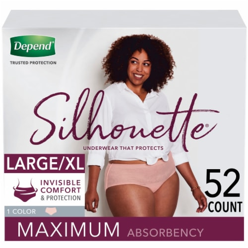 Depend Silhouette Underwear for Women L/XL - Pink Perspective: front