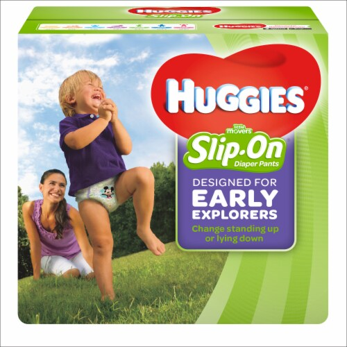 Huggies Little Movers Size 4 Slip-On Diaper Pants Perspective: front