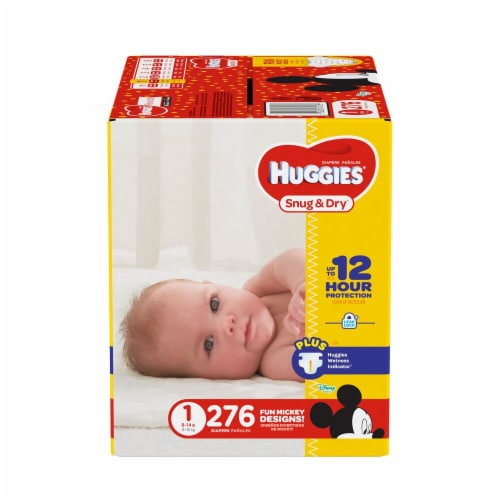 Huggies Size One Snug & Dry Diapers Perspective: front