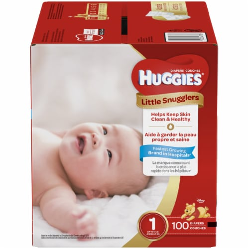 Huggies Size 1 Little Snugglers Diapers Perspective: front