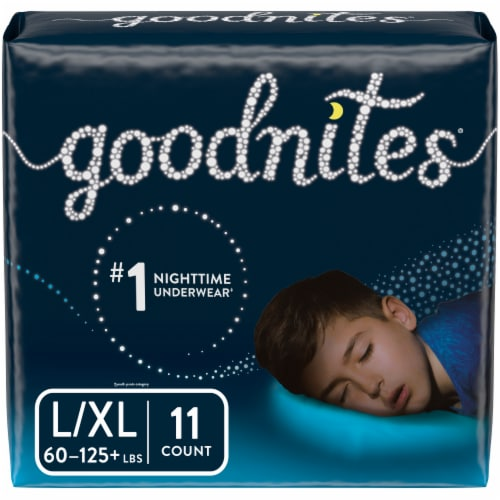 Goodnites Bedwetting Underwear for Boys L/XL Perspective: front