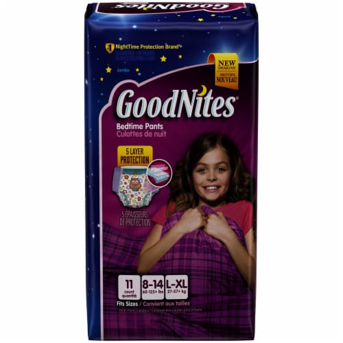 Goodnites Bedwetting Underwear for Girls L/XL Perspective: front