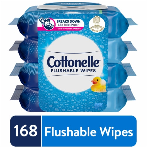 Cottonelle FreshCare Flushable Cleaning Cloths Perspective: front