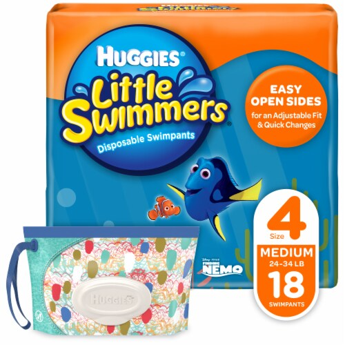 Huggies Little Swimmers Medium Unisex Swim Pants Perspective: front