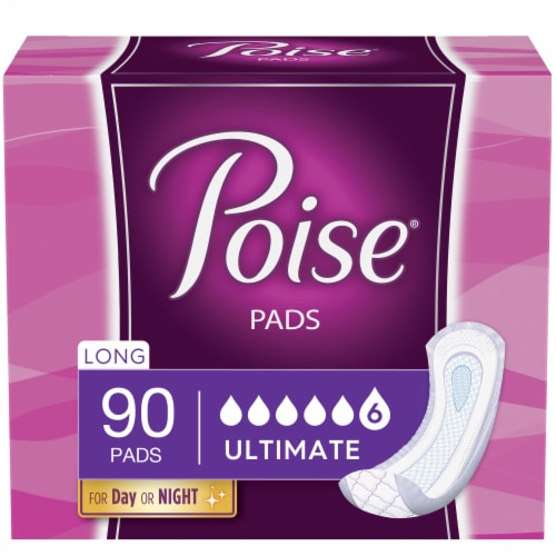 Poise Ultimate Absorbency Long Pads Perspective: front