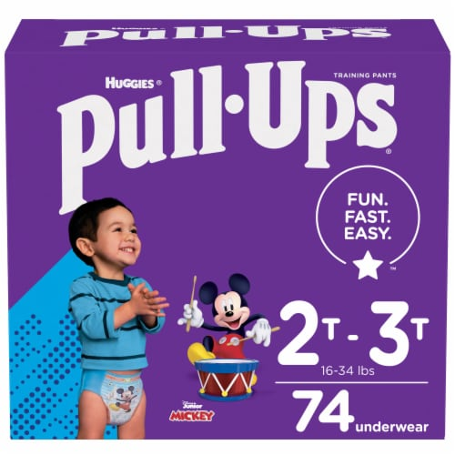 Pull-Ups Learning Designs Boys Training Pants 2T-3T 74 Count Perspective: front