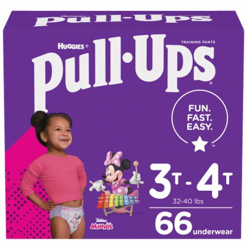 Pull-Ups Learning Designs Girls 3T-4T Training Pants Perspective: front