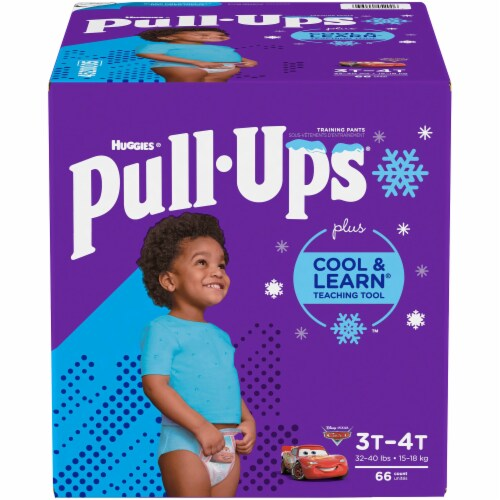 Huggies Pull-Ups 3T-4T Cool & Learn Boys Training Pants 66 Count Perspective: front