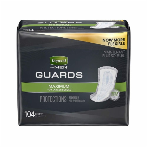 Depend Guards For Men Maximum Absorbency Perspective: front