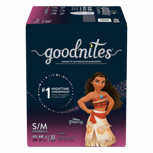 Goodnites Small / Medium Girls Bedwetting Underwear Perspective: front