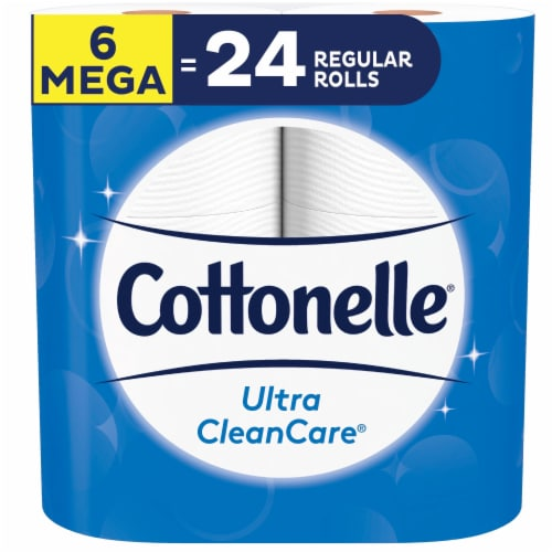 Cottonelle Ultra CleanCare Mega Roll Toilet Paper Perspective: front