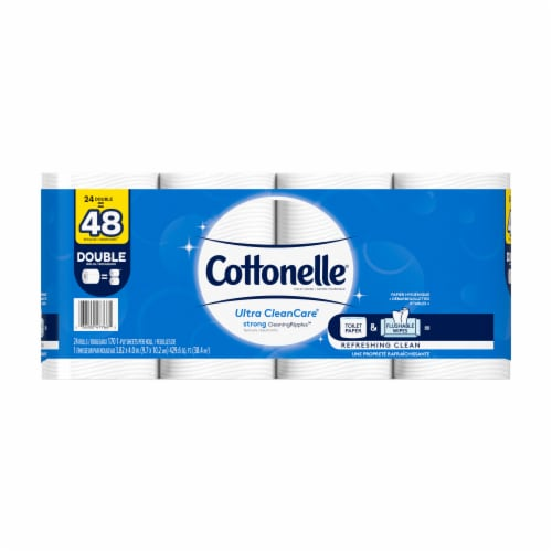 Cottonelle Ultra CleanCare Double Roll Toilet Paper Perspective: front