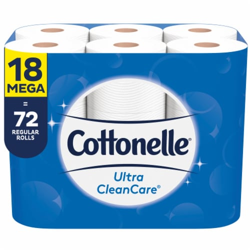 Cottonelle Ultra CleanCare Mega Roll Bath Tissue Perspective: front