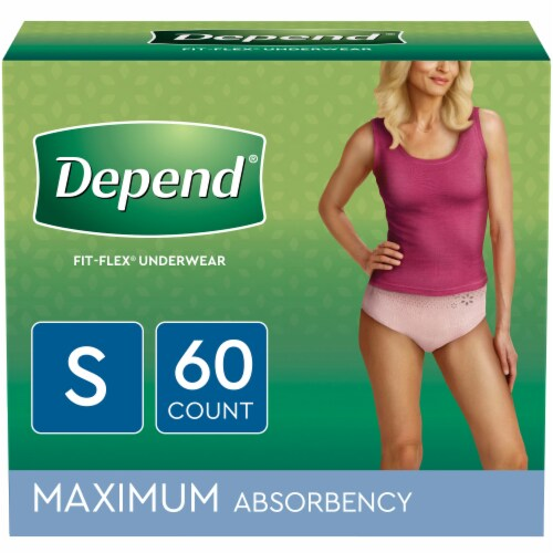 Depend Maxium Absorbency Small Women's Incontinence Underwear Perspective: front