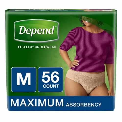 Depend Fit-Flex Maximum Absorbency Medium Underwear for Women Perspective: front