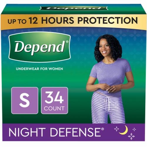 Depend Night Defense Women's Small Underwear Perspective: front