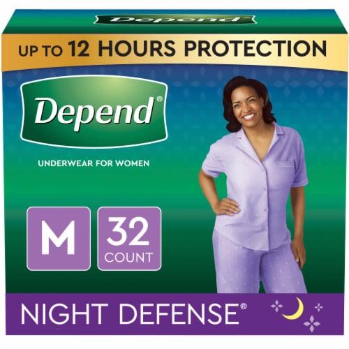 Depend Night Defense Medium Women's Underwear Perspective: front