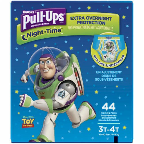 Pull-Ups Boys Night Time Training Pants 3T-4T 44 Count Perspective: front