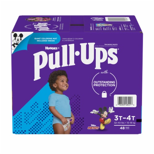 74 Count 2T-3T Pull Ups Easy Open Sides Learning Designs Training Pants for Girls