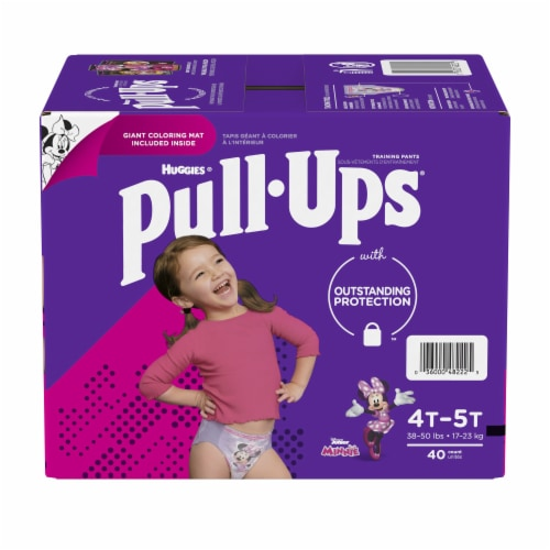 Pull-Ups Learning Designs Girls' Training Pants 4T-5T Perspective: front