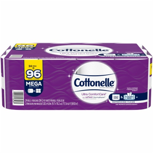 Cottonelle Ultra Comfort Care Mega Roll Bath Tissue Perspective: front