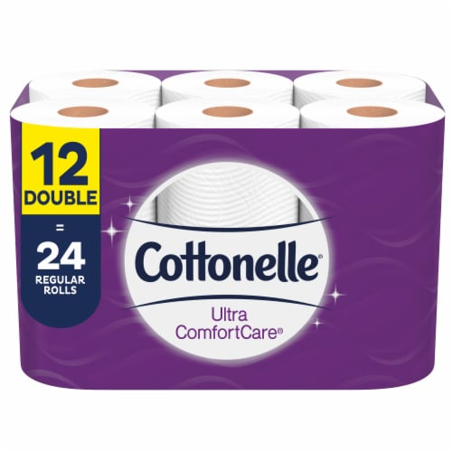 Cottonelle Ultra ComfortCare Double Roll Toilet Paper Perspective: front