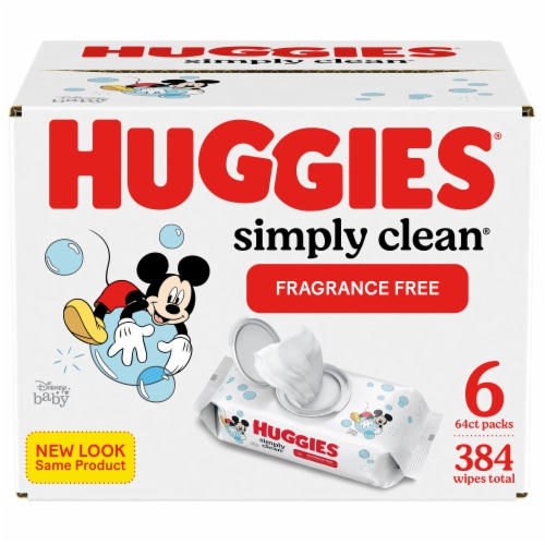 Huggies Simply Clean Fragrance Free Baby Wipes Perspective: front