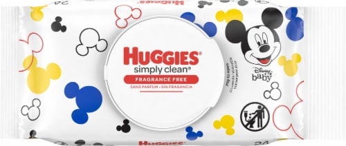 Huggies Simply Clean Fragrance Free Baby Wipes Flip-Top Pack Perspective: front