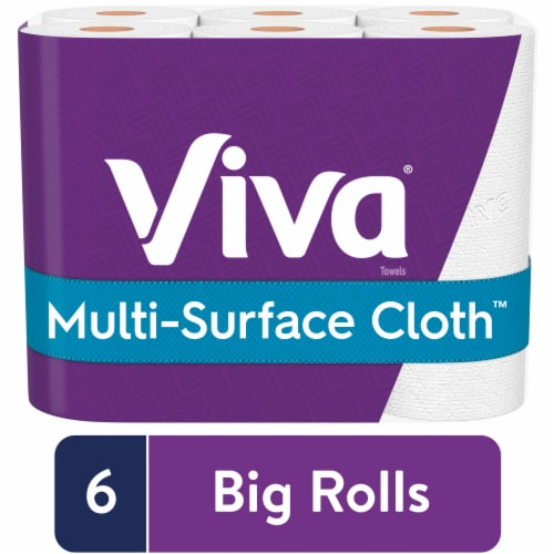 Viva Choose-A-Sheet Multi-Surface Cloth Paper Towels Big Rolls Perspective: front