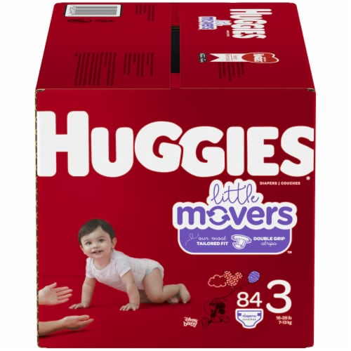 Huggies Little Movers Size 3 Diapers Perspective: front