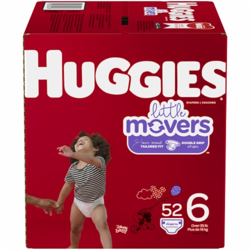 Huggies Little Movers Size 6 Diapers Perspective: front