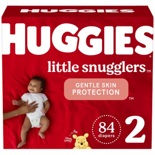Huggies Little Snugglers Size 2 Diapers Perspective: front