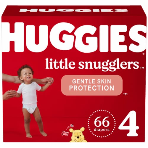 Huggies Little Snugglers Size 4 Baby Diapers 66 Count Perspective: front