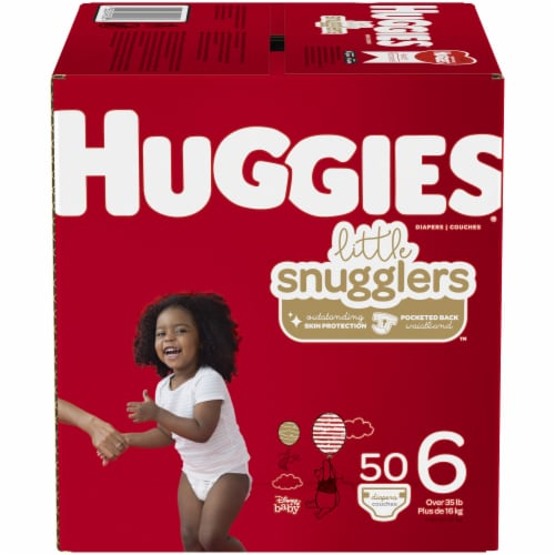 Huggies Little Snugglers Size 6 Baby Diapers Perspective: front