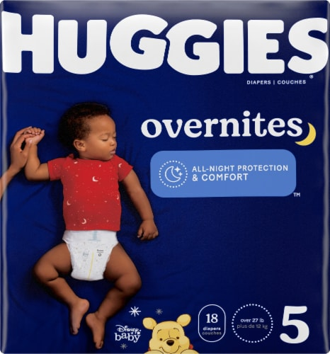 Huggies Overnites Size 5 Baby Diapers Perspective: front