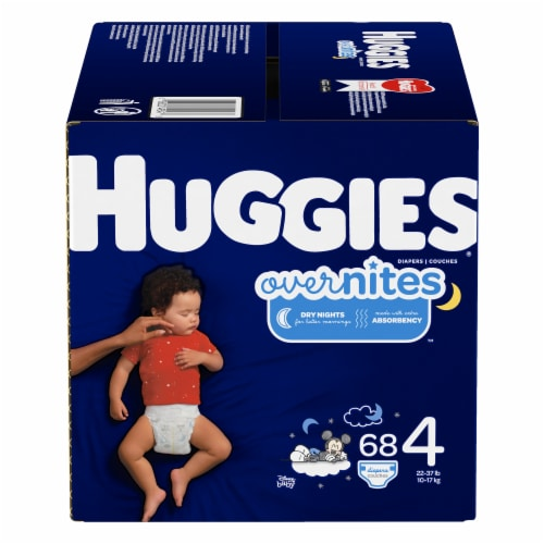Huggies Overnites Size 4 Diapers Perspective: front