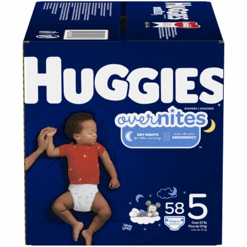 Huggies Overnites Nighttime Diapers Size 5 Perspective: front