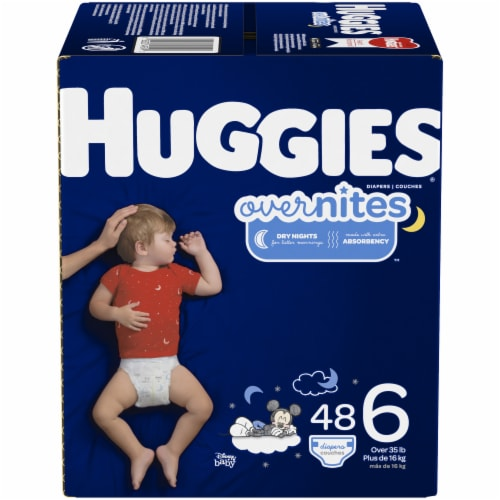 Huggies Overnites Nighttime Size 6 Diapers Perspective: front