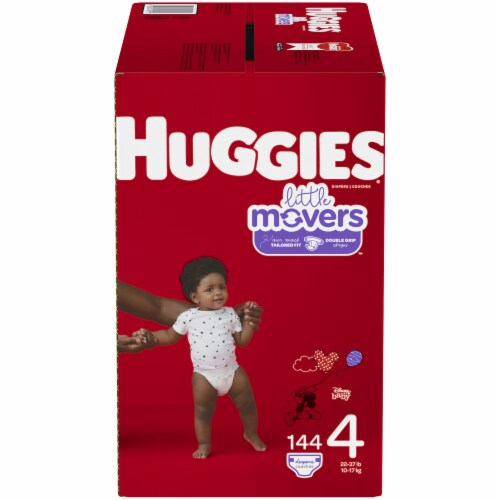 Huggies Little Movers Size 4 Diapers 144 Count Perspective: front