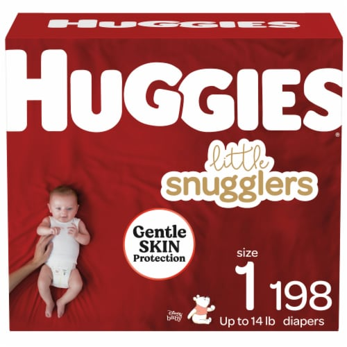 Huggies Little Snugglers Size 1 Baby Diapers Perspective: front