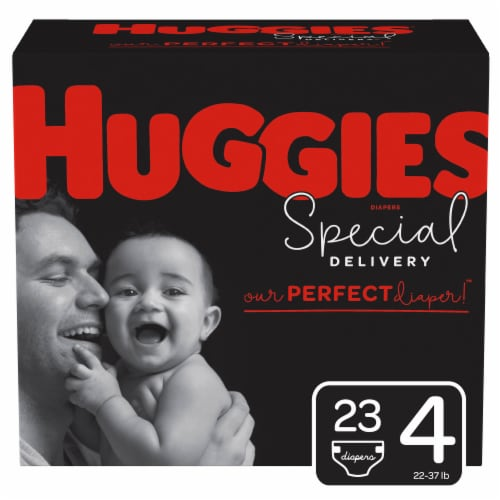 Huggies Special Delivery Size 4 Baby Diapers 23 Count Perspective: front