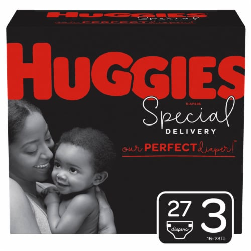 Huggies Special Delivery Size 3 Baby Diapers 27 Count Perspective: front
