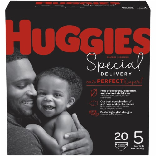 Huggies Special Delivery Size 5 Baby Diapers 20 Count Perspective: front