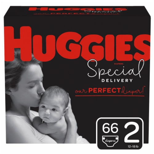 Huggies Special Delivery Size 2 Baby Diapers 66 Count Perspective: front