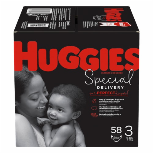 Huggies Special Delivery Size 3 Baby Diapers Perspective: front