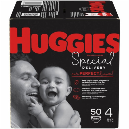 Huggies Special Delivery Size 4 Baby Diapers 50 Count Perspective: front