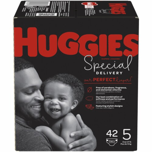 Huggies Special Delivery Size 5 Baby Diapers 42 Count Perspective: front