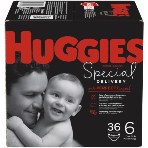 Huggies Special Delivery Size 6 Baby Diapers Perspective: front