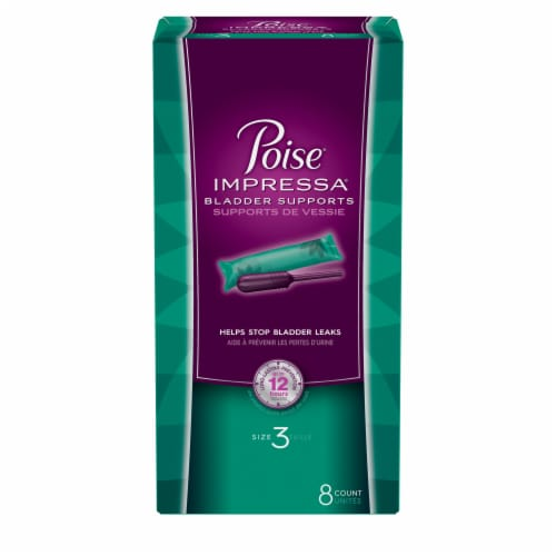 Poise Impressa Size 3 Bladder Supports Perspective: front